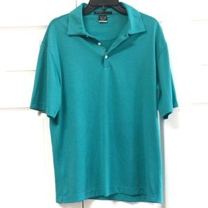 Tiger Woods Collection Blue Textured Golf Polo